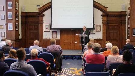 : Cllr David Oliver welcomes businesses to Fenland District Council's free food safety seminar