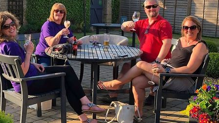 After show drinks at Ely Craft, Spirit and Wine Festival in May.