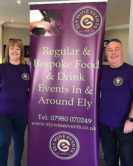 Mark and Teresa of Ely Wine Events