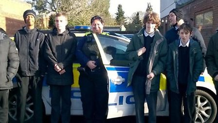 The young people of Highfield Academy, Ely joined PCSO Kat Deronal for a tour of the police station