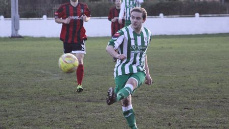 Marcus Hall is one of the injury worries for Soham Town Rangers. Picture: ANDY BURFORD