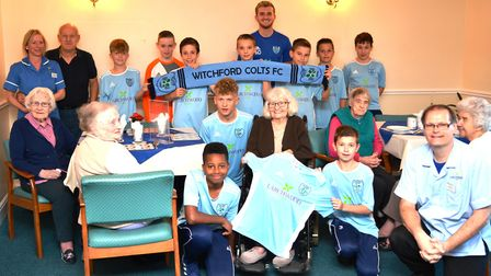 Residents and staff at Lily House Care Home in Ely have sponsored the football kit for Witchford U13