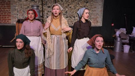Viva in rehearsal for their performance of Fiddler on the Roof. Picture: MIKE ROUSE.
