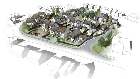 An artists impression of how the site will look once complete. Developers Osprey say that homeowners