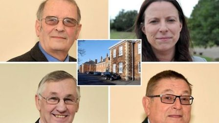 Out? Tories councillors Alex Miscandlon (top left) and Michelle Tanfield and (bottom left) Will Sutt