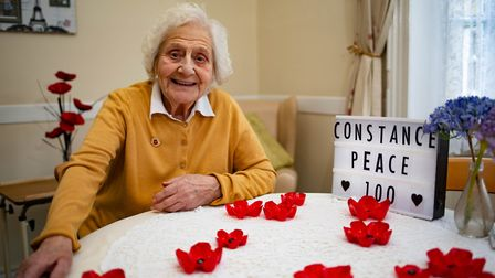 Constance Peace born on Armistice Day will celebrate her 100th birthday at a Whittlesey care home..