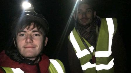 Reporters Ben Jolley and Harry Rutter before their Segway At Night experience at Go Ape Thetford