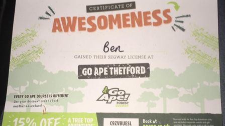 You even get a certificate at the end of the experience