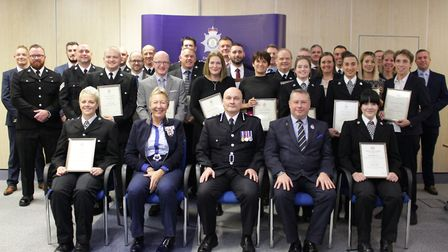 Officers, staff and life-saving members of the public were commended at special ceremony. The Chief