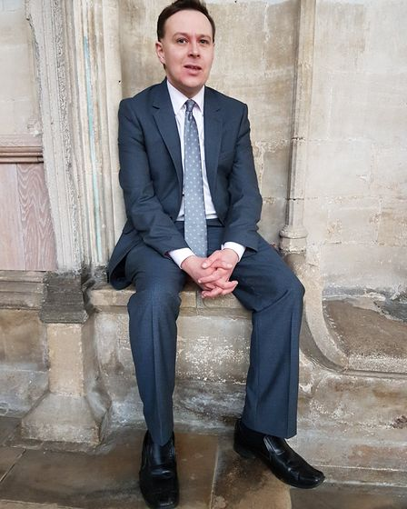 Edmund Aldhouse has been appointed as director of music at Ely Cathedral. Picture; ELY CATHEDRAL