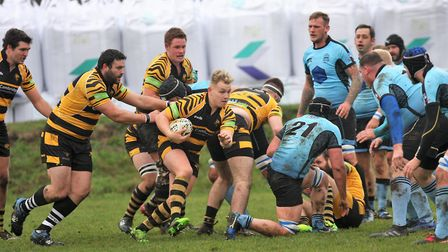Nathan Brooks peels off the back of the pack for Ely Tigers