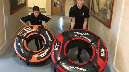 Ely College receives a donation of Life Fitness equipment. Picture: Ely College