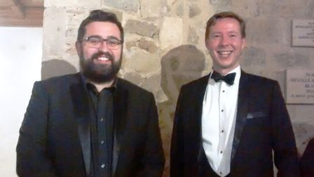Ely Consort's Charlie Penn and Matthew Rudd. Picture: ROSEMARY WESTWELL.