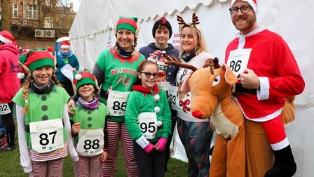 Participants at Sunday's Ely Festive 5K turned out in an impressive array of Christmas themed fancy-