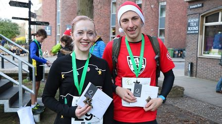 Fastest woman Lauren Thomas (left) and fastest man Harry Winslet (right). Picture: ARTHUR RANK HOPSI