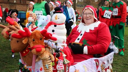 Ely Festive 5K. Getting into the Christmas spirit. Picture: Arthur Rank Hospice