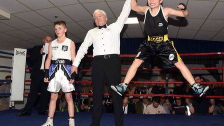 March boxers at the BRAZA Club dinner show, Josh Tanner v Shae GowlerPictures: IAN CARTER