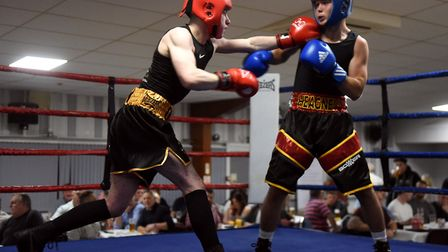 March boxers at the BRAZA Club dinner show, Conor Brazil v Callum Heagney Pictures: IAN CARTER