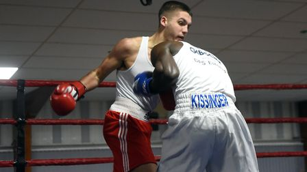March boxers at the BRAZA Club dinner show, Regan Lazenby v Daniel Gibson Pictures: IAN CARTER