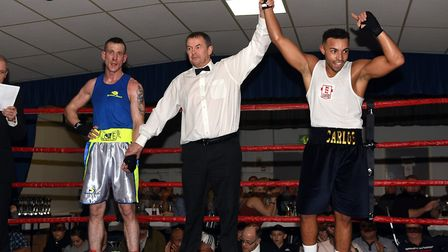 March boxers at the BRAZA Club dinner show, Carlos Allesandrino v Sean probert Pictures: IAN CARTER