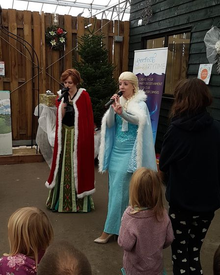 A Christmas extravaganza featuring real donkeys, reindeer and Elsa and Anna from Frozen took over a