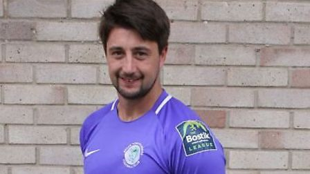 Josh Pope saved a penalty as Soham Town Rangers triumphed at Canvey Island. Picture: SOHAM TOWN RANG