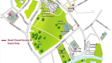 Map offers information on which roads will be impassable on Friday November 30 during the switch-on