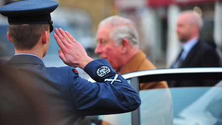 Prince Charles visits Ely. Picture: HARRY RUTTER