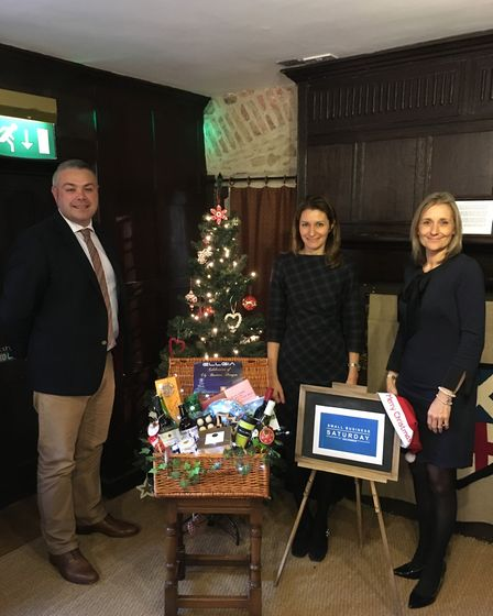 MP Lucy Fraser joins Joe Hemsley-Rudd, sales director at Elgia and Tracey Harding, of East Cambs Di