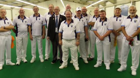 North Cambs face the camera at their Derbyshire Trophy match against Northants A