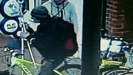 Police want help to identify the pair who they want to speak to in connection with two bikes worth £