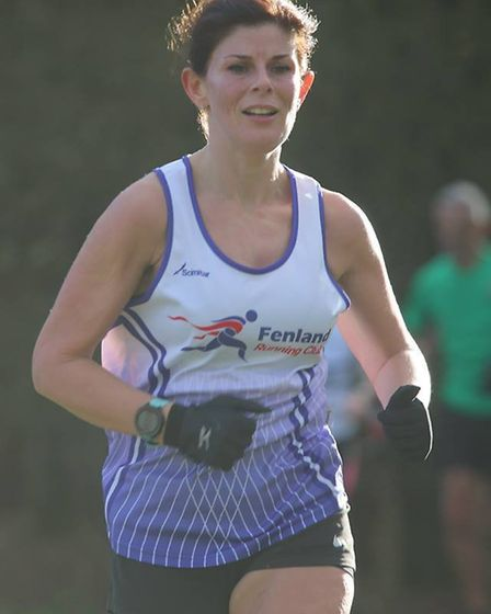 Fenland RC's Ellen Connolly was first woman to finish at the Frostbite League event (pic Tim Chapman