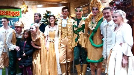 The cast of this year's KD Theatre Productions pantomime,Jack and the Beanstalk, which is at The Mal