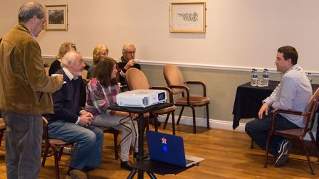 Weatherman Chris Bell gave a talk to guests and members of the March Camera Club at Oliver Cromwell