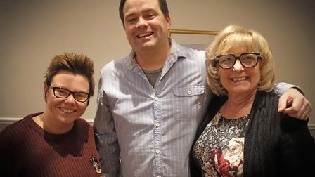 Left to right: Jo Kelly, Chris Bell and Jackie Newark. Weatherman Chris Bell gave a talk to guests a