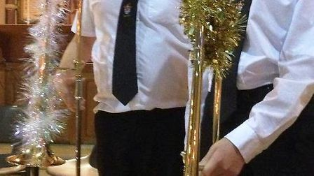 Fenland Music Centre Association's Aidan and Jack, winners of the 'best decorated instrument' award.