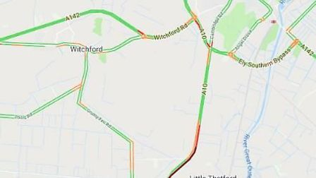 The collision happened on the A10 at Broad Baulk between Stretham and Ely. This map shows where the