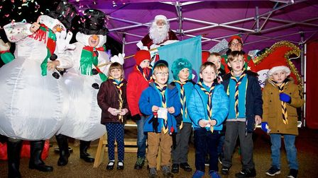 The 1st Sutton Beaver Scouts were invested in Santas Sleigh. Picture: IAN STACEY PHOTOGRAPHY.