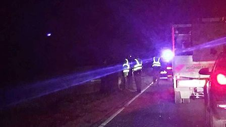 Four cars were involved in a collision on the A141 between March and Chatteris on Wednesday December