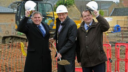 New £4 million housing development for disabled adults in Chatteris. Alastair Sheehan, Cllr Bill Hag