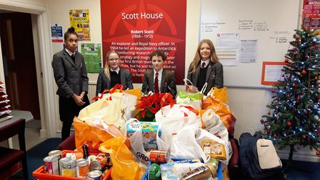 Students from Ely College have been playing their part in supporting the Ely Food Bank this Christma
