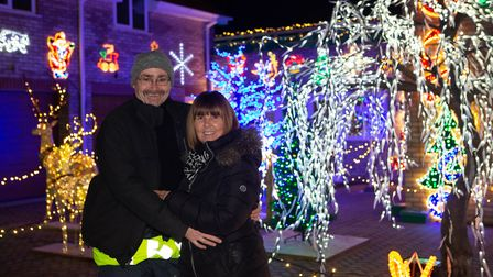 A couple from the Fens are once again hosting their annual Christmas lights display with their home