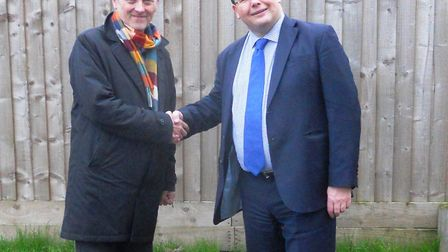 Left: Phil Rose, Head of Property and Development, Palace Green Homes and Roger Thompson, Cambridges