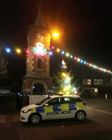 'Storm damage' to blame for Doddington's centre piece Christmas tree being cut in half