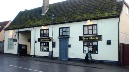 The Griffin, Iselham. Landlords Mr and Mrs Missing have been fined for having food unfit for human c