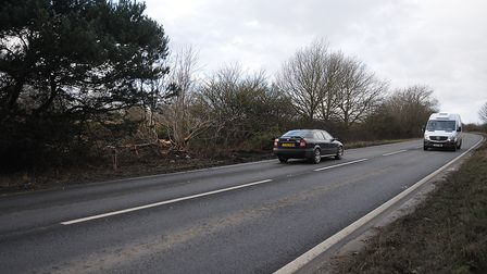 The scene of the collision involving a coach and a van, in which two men died. Picture: Chris Bishop