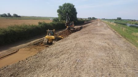 The second year of work to raise the banks of the Ouse Washes Flood Storage Reservoir has been compl