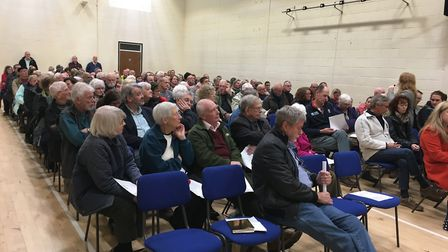 There was a large turn out to hear MP Lucy Frazer and police and crime commissioner Jason Ablewhite