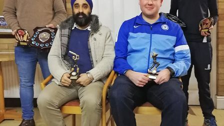 The Fenland Trophy League handed out awards to Lewis Jackson (Wisbech) Young Player of the Year, Ki