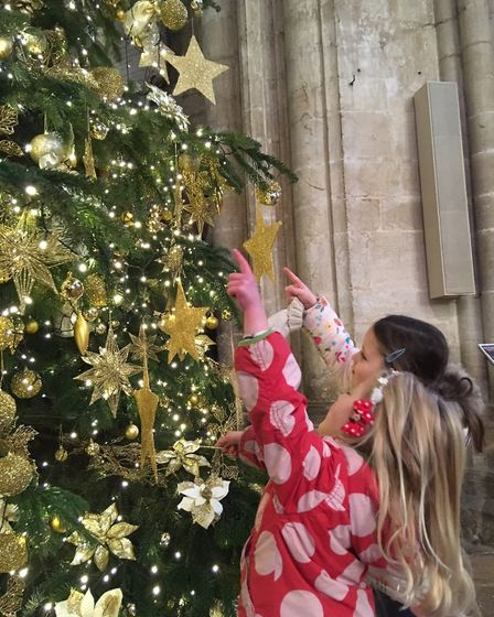 This stunning Christmas tree at Ely Cathedral includes 4000 lights, 2000 baubles and is almost 35 ye